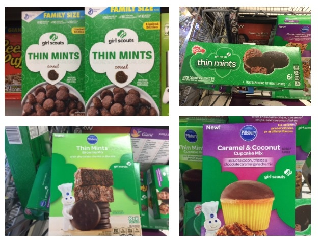 Girl Scout cookie products